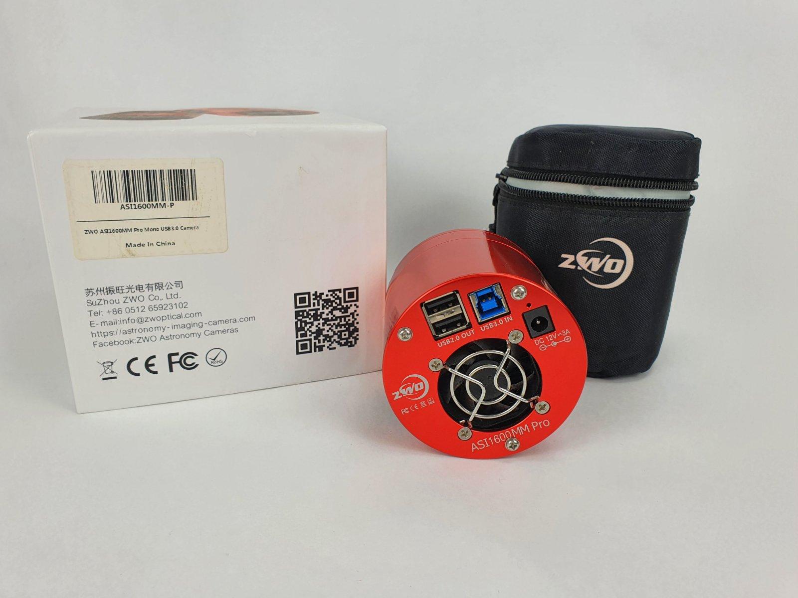 ZW Optical ASI 1600 MM Pro USB3.0 Camera Astronomica monocromatica- usato, condizioni pari al nuovo
