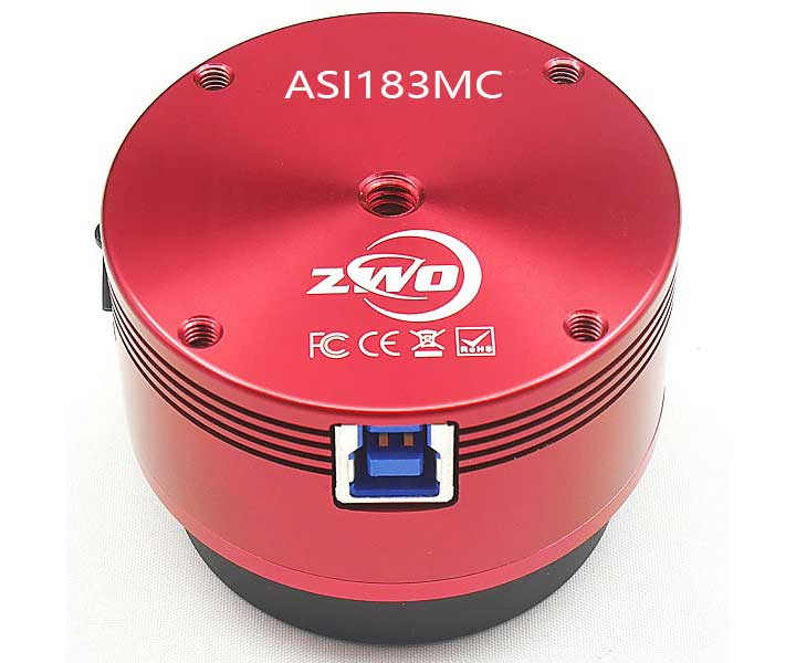 ZWO ASI183MC Color Astro CMOS Camera - Sony CMOS D=15.9 mm
