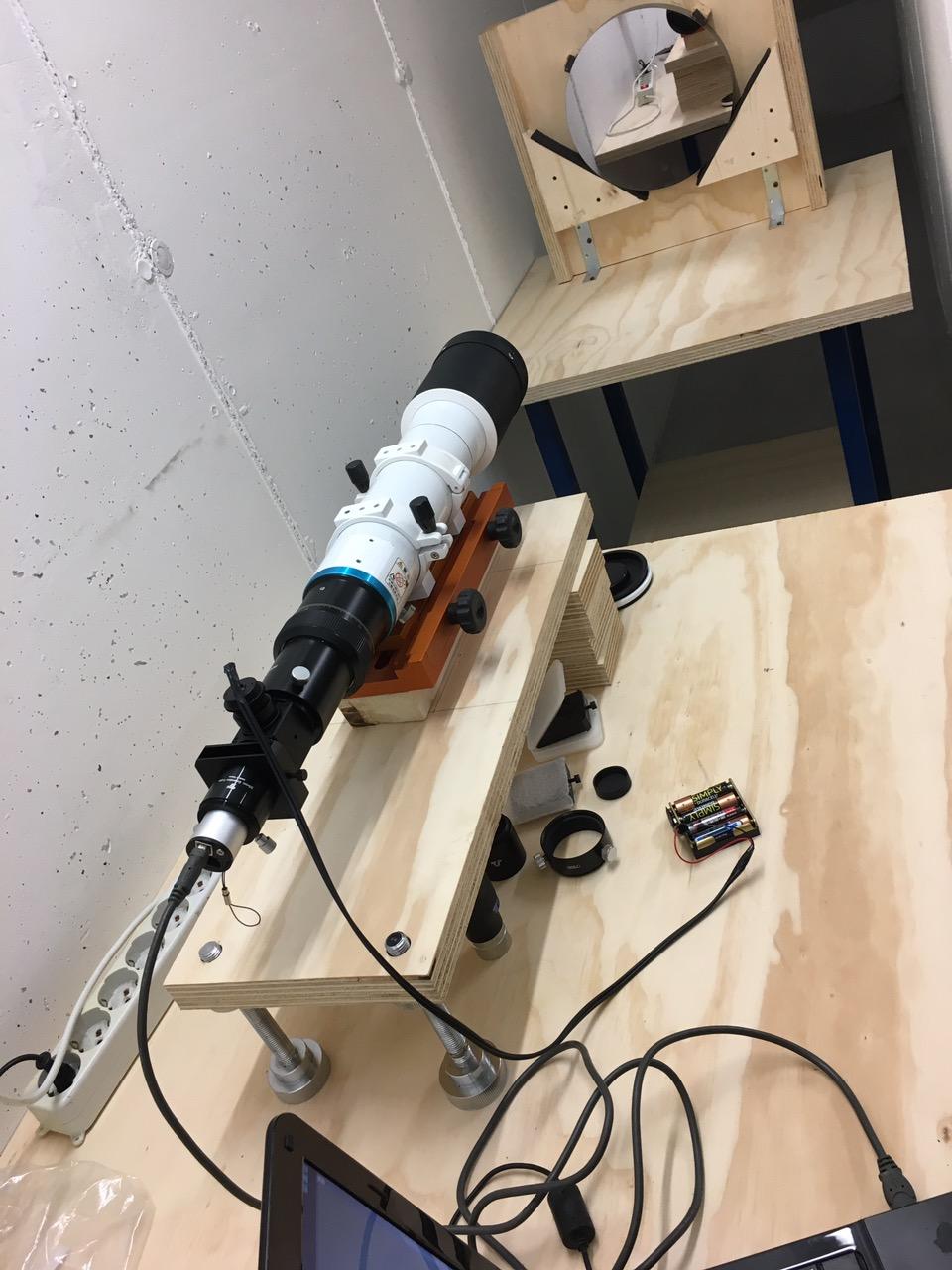 Per OTA RT e RC/Cassegrain, collimazione su banco ottico. Ritiro e riconsegna IN SEDE