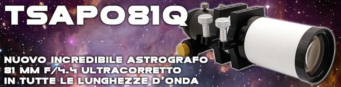 TASPO81Q: telescopio apocromatico astrografo, astrofotografia, luminoso, campo corretto, deep sky, ideale per astrofotografia