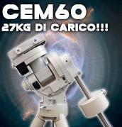 Teleskop Service presenta CEM60 della iOptron, montatura equatoriale alla tedesca con 27kg di carico e testa ultraleggera, computer gotonova