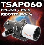 Teleskop Service Italia presenta TSAPO603 in FPL-53: telescopio compatto per osservazioni visuali, fotografia astronomica a grande campo o come telescopio guida. Un perfetto compagno di viaggio.