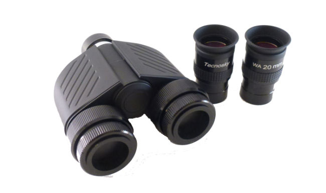Torretta binoculare Tecnosky Bundle con oculari WA da 20mm