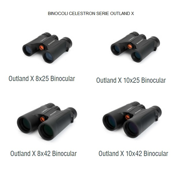 Binocolo Celestron Outland X 10x25