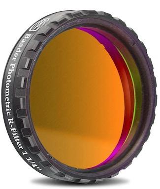 """Filtro Fotometrico R da 1¼"""" (31.8mm), con cella a basso profilo (spessore vetro 4mm) per fotometria UBVRI"""
