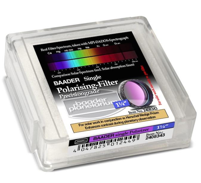 """Filtro Polarizzatore da 1¼"""" (31.8mm)-NON usare senza filtro frontale montato davanti al tubo ottico per osservazione solare"""