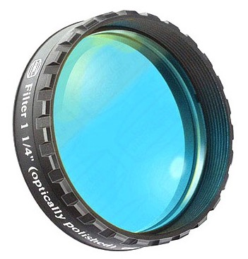 "Filtro Blu visuale da 1¼"" (31.8mm). Passabanda da 470nm"