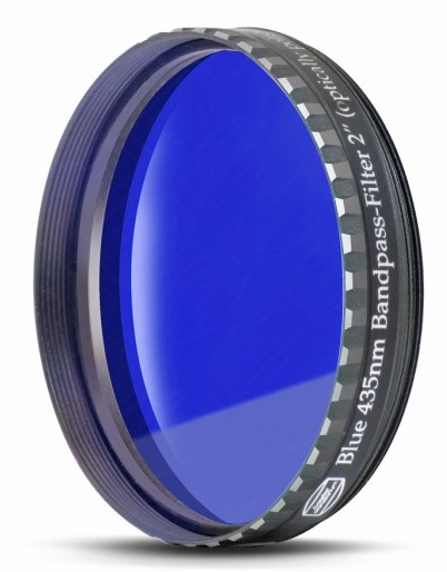 "Filtro Blu scuro visuale da 2"" (50.8mm). Passabanda da 435nm"