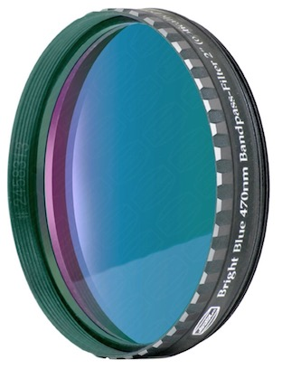 "Filtro Blu visuale da 2"" (50.8mm). Passabanda da 470nm"