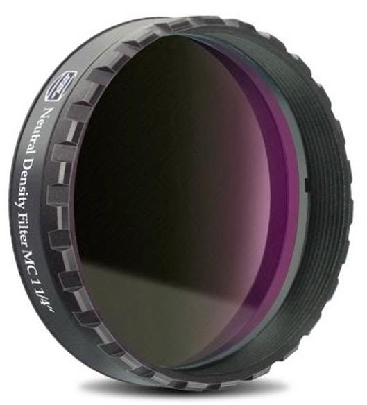 """Filtro ND da 1,25"""" (31,8mm) Grigio Neutro con densità ottica 3,0 - 0,1% di trasmissione"""