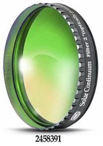 """Filtro Continuum da 2"""" (50.8mm) centrato sulla lunghezza d'onda 540nm per migliorare il contrasto della fotosfera solare. Da abbinare ad un filtro solare"""