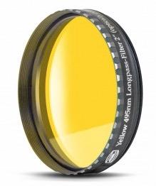 """Filtro Giallo visuale da 2"""" (50.8mm). Banda passante a partire da 495nm"""