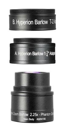 Lente di Barlow 2.25x specifica per oculare Hyperion Zoom, Multi Coated