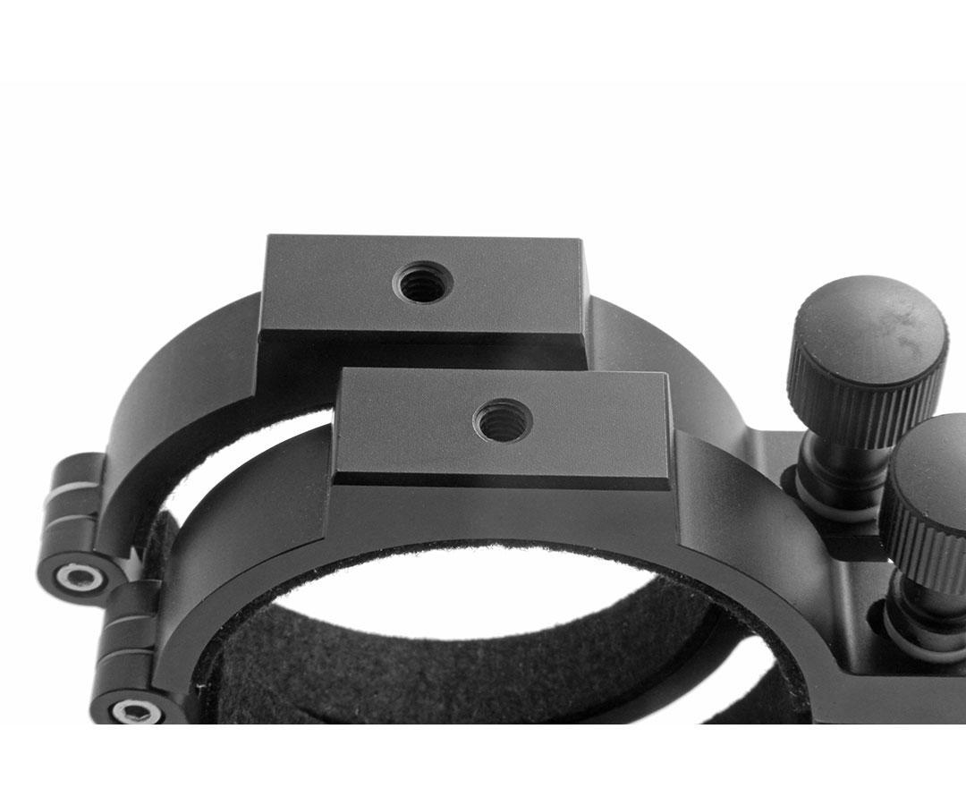 TS-Optics CNC Aluminium Tube Rings for telescopes with 80mm diameter [EN]