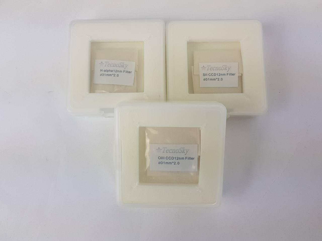 Set filtri Tecnosky da 31mm 12nm : H-alpha, SII e OIII -  Usati, completi di scatole originali
