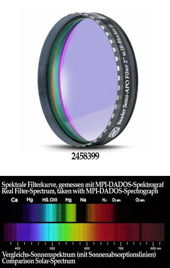 """Filtro Semi APO da 2"""" (50.8mm) con Phantom Coating Group. Riduce di molto il fastidioso cromatismo dei rifrattori acromatici"""