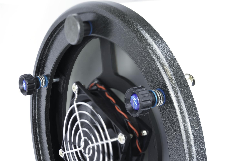 Sistema di collimazione evoluto con feedback tattile, molle reggispinta e sistema antigraffio per Newton GSO
