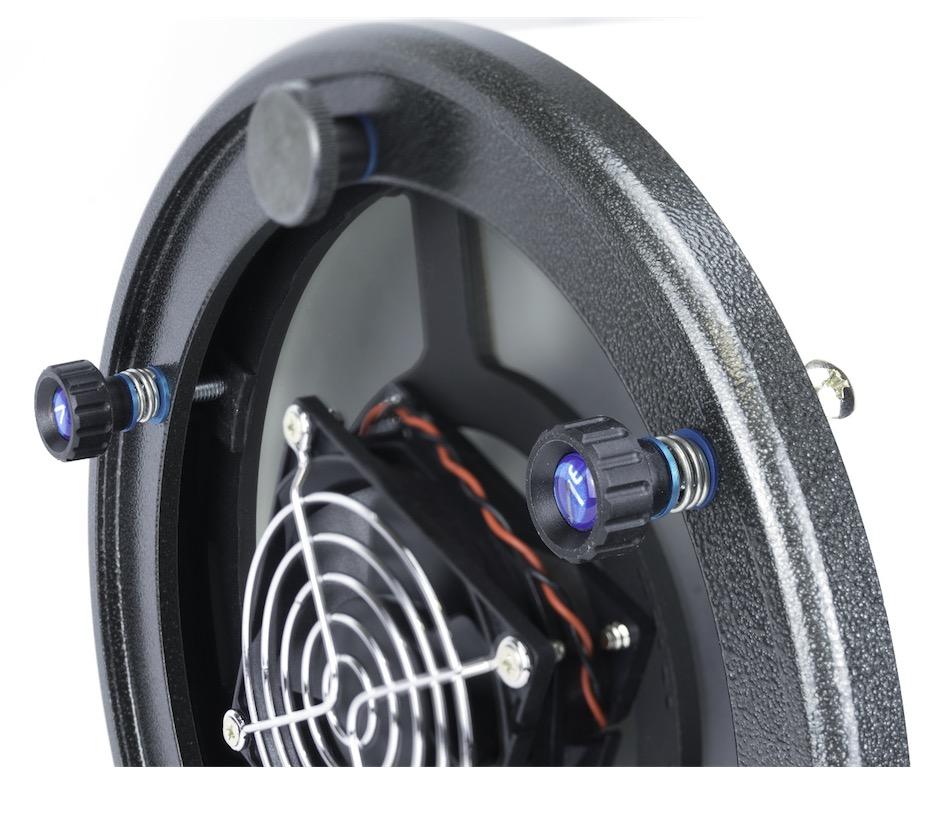 Sistema di collimazione avanzato con feedback tattile, molle reggispinta e sistema antigraffio per Dobson GSO