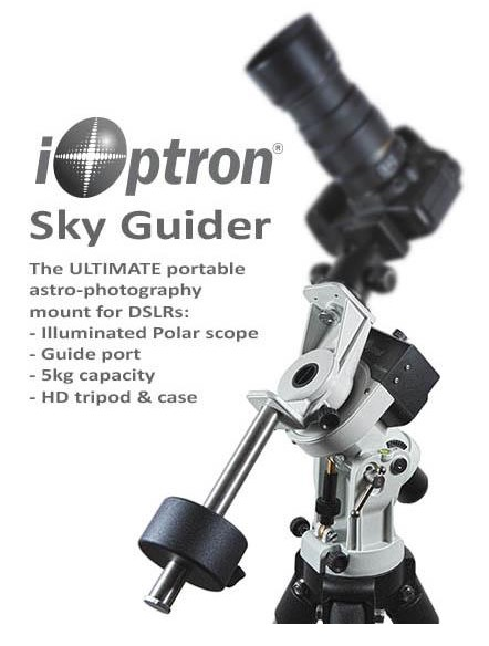 iOptron SkyGuider – Montatura Equatoriale/ Astroinseguitore per Reflex e piccoli telescopi - capacità di carico fino a 5Kg - con treppiede