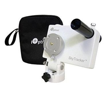 iOptron SkyTracker Astroinseguitore con cannocchiale polare portatile - colore bianco