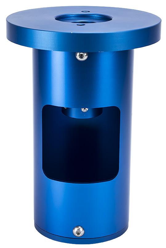 Colonna corta per montatura AZEQ6ad elevatissima stabilità, con flangia in alluminio lavorato dal pieno di elevato spessore e sezione centrale con spessore di 5mm