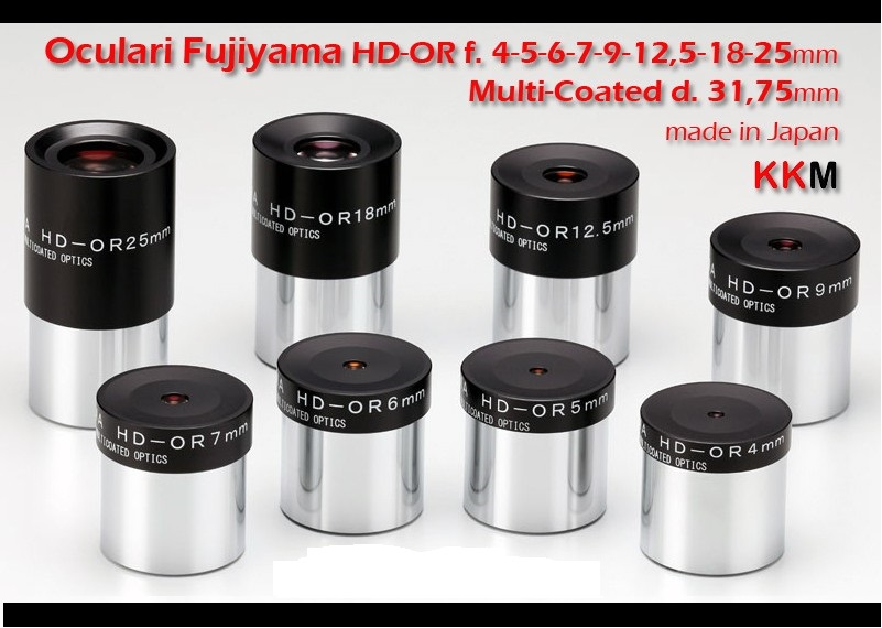 Oculare Fujiyama HD-OR alta qualità made in Japan, Multi Coated da 31,8mm - 7mm - estrazione pupillare 6mm - campo apparente 42°