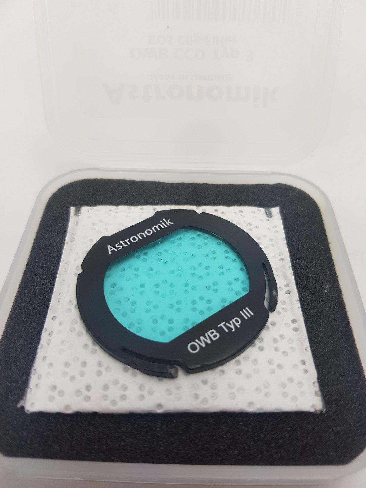 Astronomik OWB - Terrestrial Clip Filter for Canon EOS APS C sensor cameras - Usato, condizioni pari al nuovo