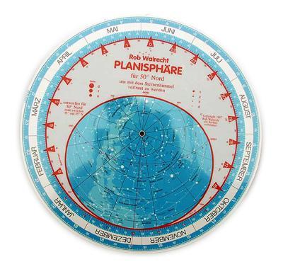 Planisphere - 50° Northern Latitude - English version [EN]