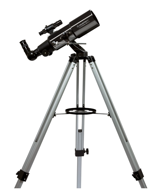 Telescopio ultraleggero PowerSeeker  80AZS, con accessori e treppiede in alluminio