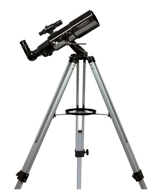 Telescopio ultraleggero PowerSeeker 80AZS, con accessori e treppiede in alluminio