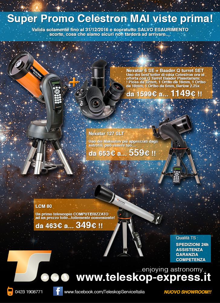 Telescopio rifrattore acromatico LCM 80 con montatura altazimutale computerizzata GO-TO - PROMOZIONE CELESTRON