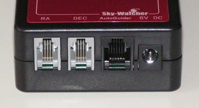 Kit composto da motori + pulsantiera con porta autoguida per montatura Skywatcher EQ5
