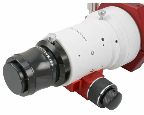 Doppietto apocromatico in FPL-51 da 72mm di diametro (focale 430mm, f/6) con spianatore