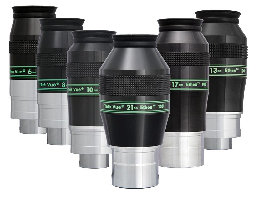 """OculareEthos con doppio barilotto da 31.8mm e 2""""- campo apparente 100°- lunghezza focale 6mm"""