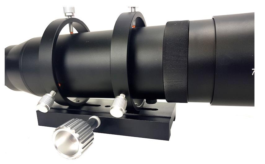 Telescopio Tecnosky SharpGuide 70 completo di morsetto Vixen lungo