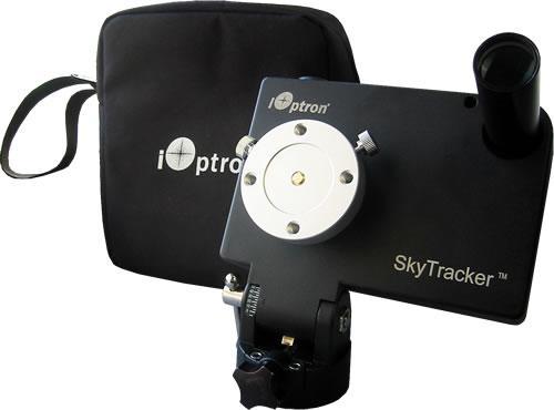 iOptron SkyTracker Astroinseguitore con cannocchiale polare portatile - colore nero