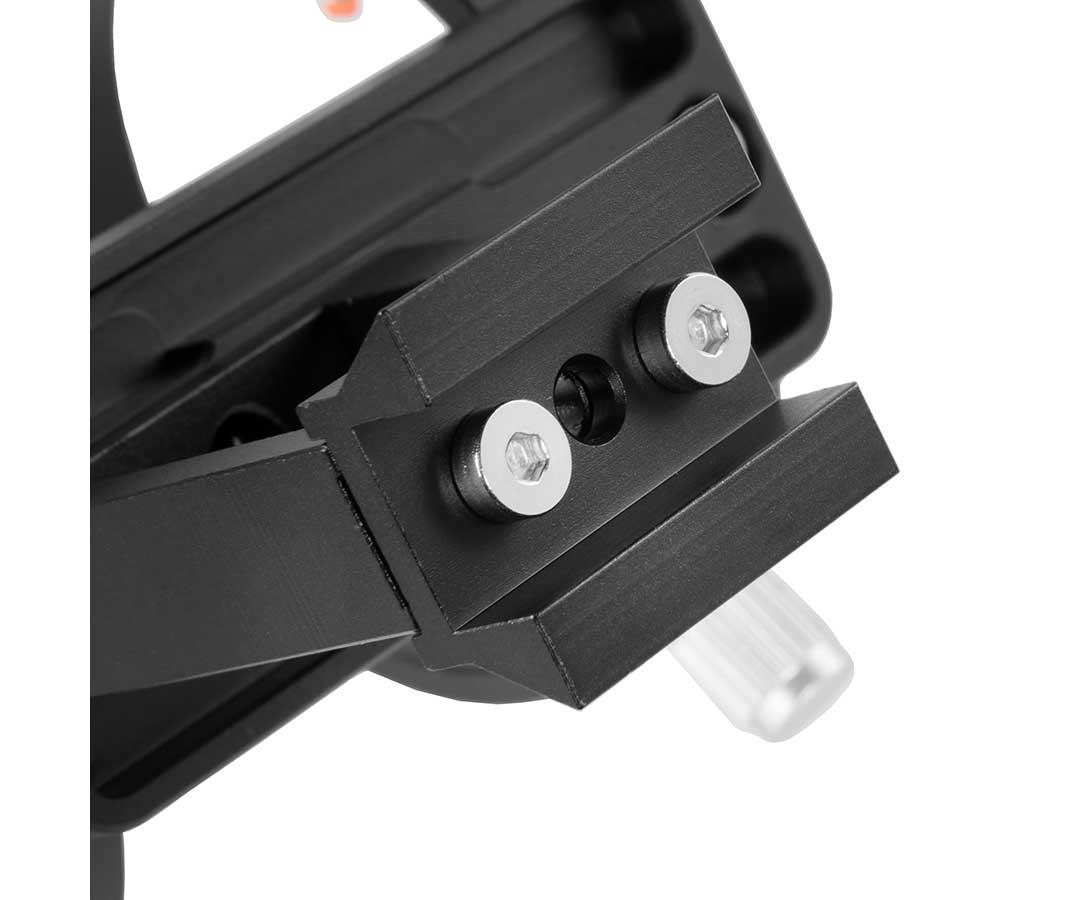 Supporto per cercatori da 60mm con basetta di supporto stretta