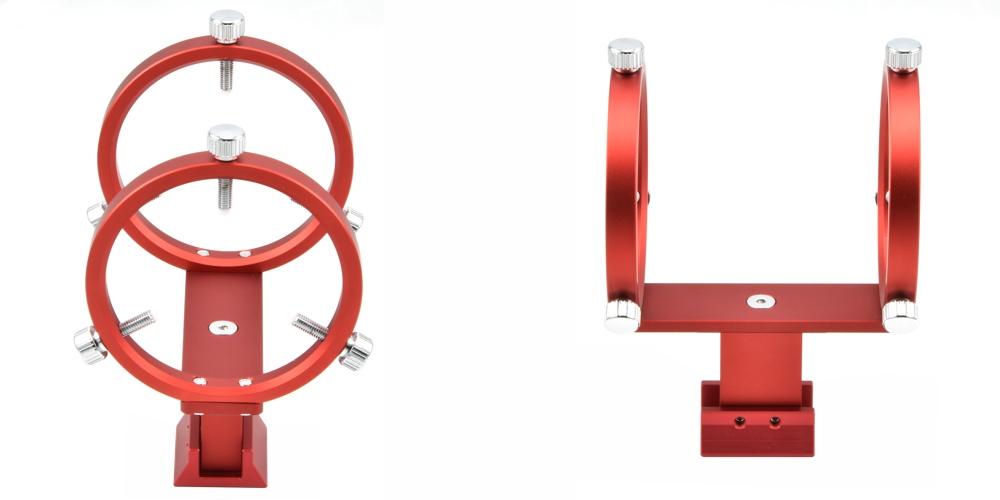 Supporto cercatore DX-2 per rifrattori Airy e Newton con doppio anello di supporto e viti a 120°