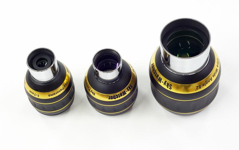 Oculari grandangolari Skywatcher Panorama 7mm, 15mm e 23mm da 82° di campo