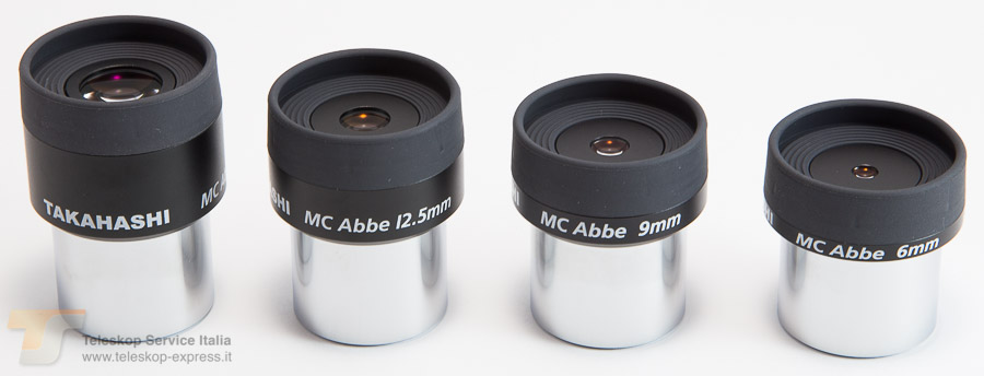 oculare ortoscopico MC Abbe Ortho Takahashi - 6mm - estrazione pupillare 4.8mm - campo apparente 44°