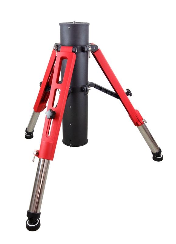 Treppiede in acciaoIoptron Tri-pier di colore rosso e nero