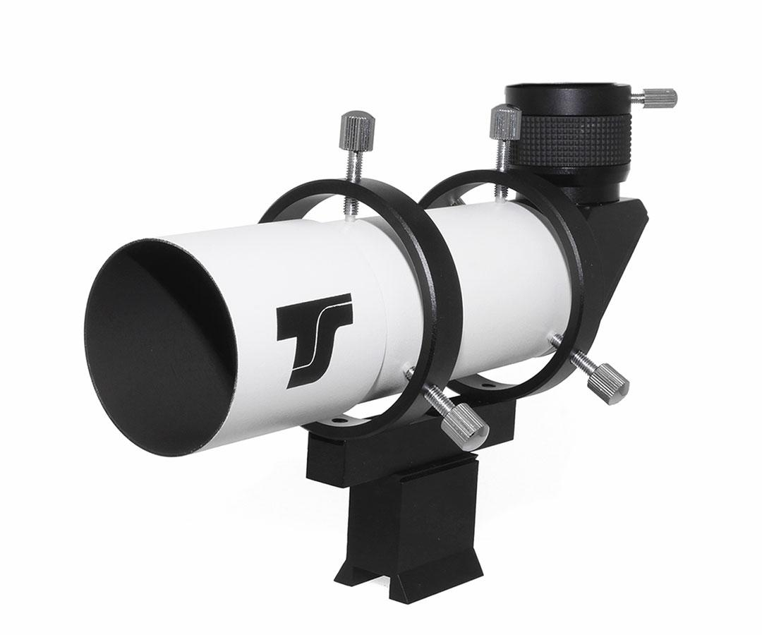 """TS-Optics 50 mm Right-Angle Finder Scope with 90° Amici prism - 1.25"""" helical focuser [EN]"""
