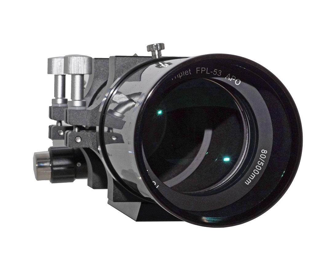 "TS-Optics Photoline 80 mm f/6.25 Triplet FPL53 APO - carbon - 2.5"" focuser [EN]"