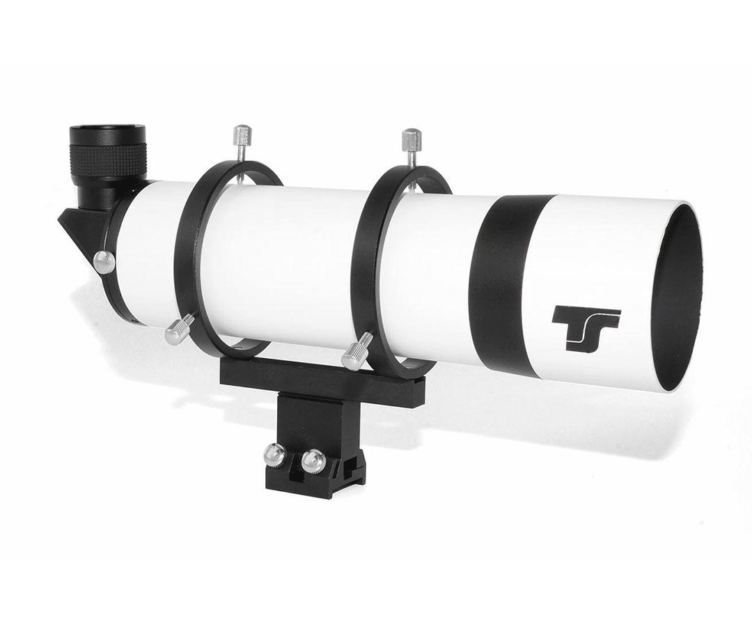 """TS-Optics 80 mm Right-Angle Finder Scope with 90° Amici prism - 1.25"""" helical focuser [EN]"""