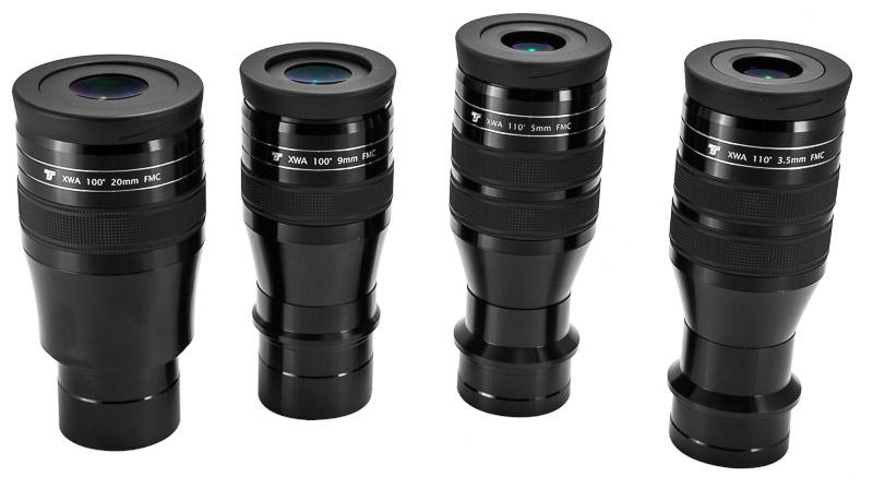 """Oculare TS Optics da 110° XWA 5mm - riempito di azoto - barilotto da 31,8mm e 2"""""""