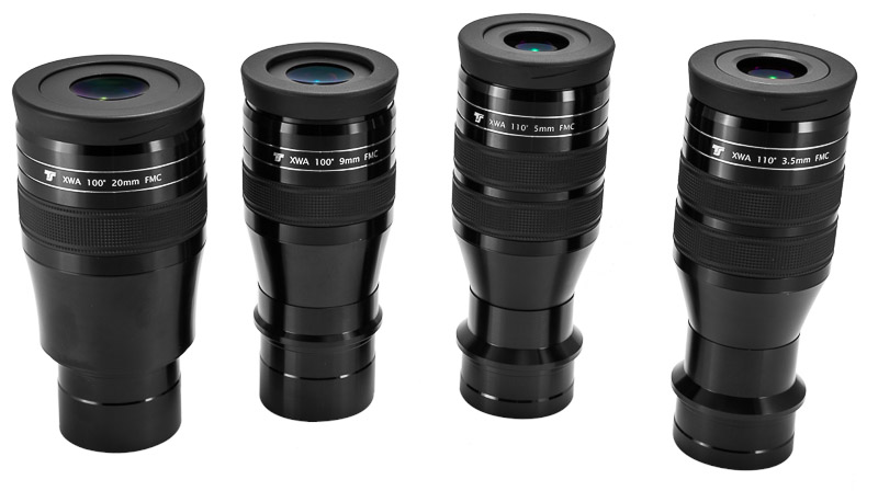 """Oculare TS Optics da 100° XWA 9mm - riempito di azoto - barilotto da 31,8mm e 2"""""""