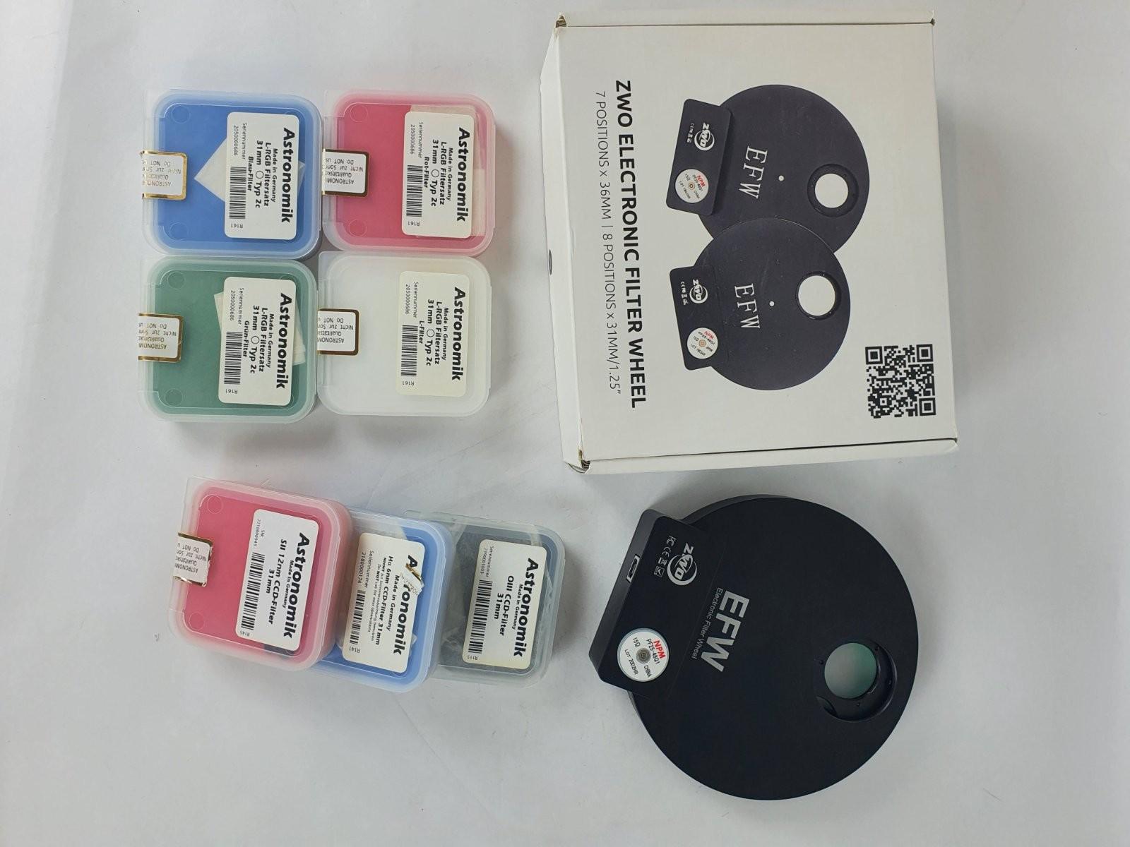 [USATO] Ruota motorizzata + set filtri 31mm LRGB HA SII OIII